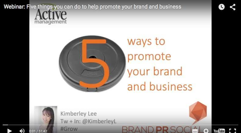 Webinar: five things you can do to promote your brand and business