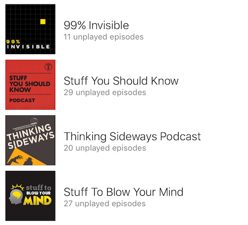 12 Podcasts I listen to